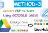 Convert PDF to Word Using Google Drive