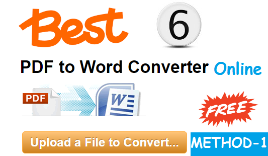 6 Best Free Pdf To Word Online Converter Without Registration