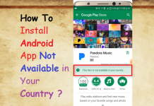 Install Android Apps Not Available in your country