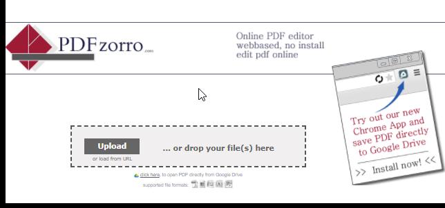 pdfzorro free online pdf editor