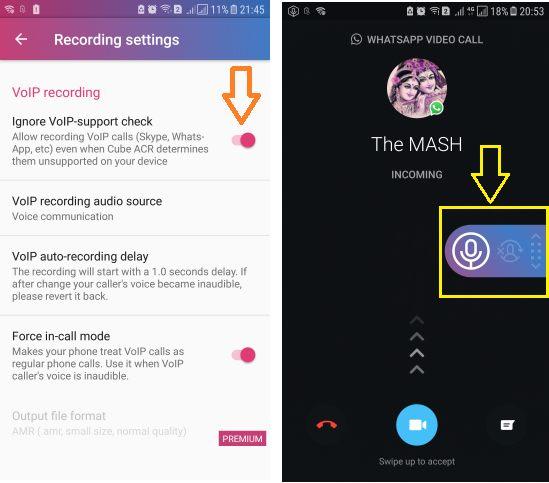 Record WhatsApp Call Audio CUBE ACR App
