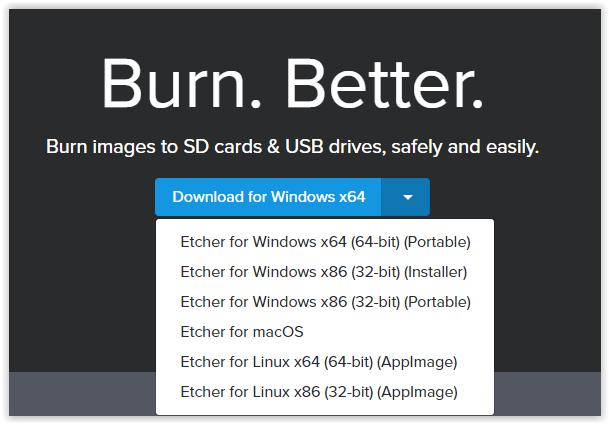 make a bootable usb pendrive Sd card