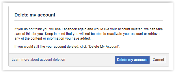 How to delete facebook account permanently delete your facebook account permanently ccuart Images