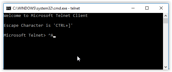 enable or install telnet client in windows 10