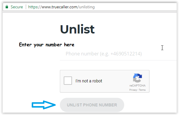 unlist or remove your phone number from Truecaller database