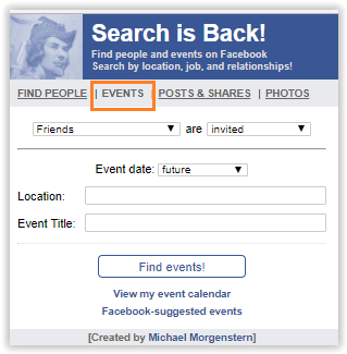 Facebook search engine optimization search is back Events