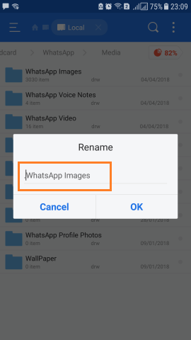 Hide WhatsApp Images Videos from Android device Gallery