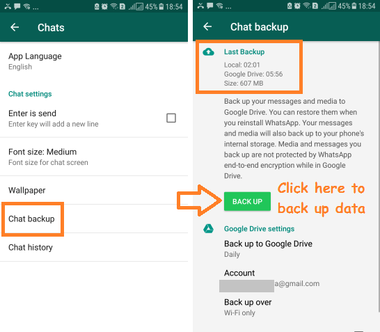 Transfer Whatsapp messages from Android to iPhone with local backup