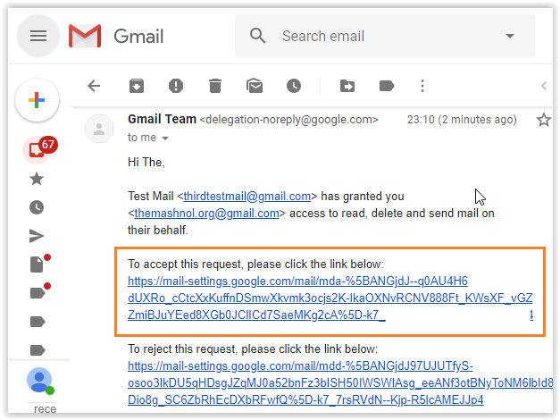 Grant Access to your Gmail account to any one Gmail Delegation