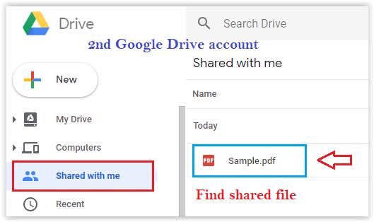 How to move Google Drive Files from One Google Drive to Another Account