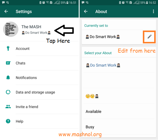 How To Set Blank Empty Whatsapp Status Mashnol
