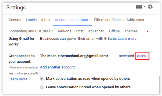 revoke deleted access to gmail account