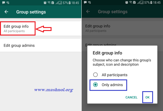 How to Stop Restrict WhatsApp Group members from Changing Group Info