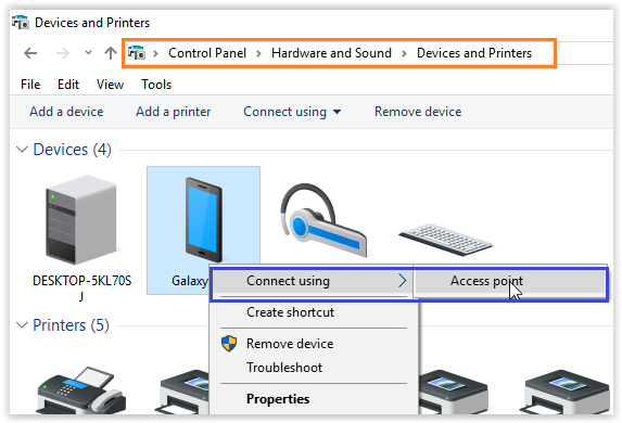 How to connect Mobile internet to PC using Bluetooth tethering