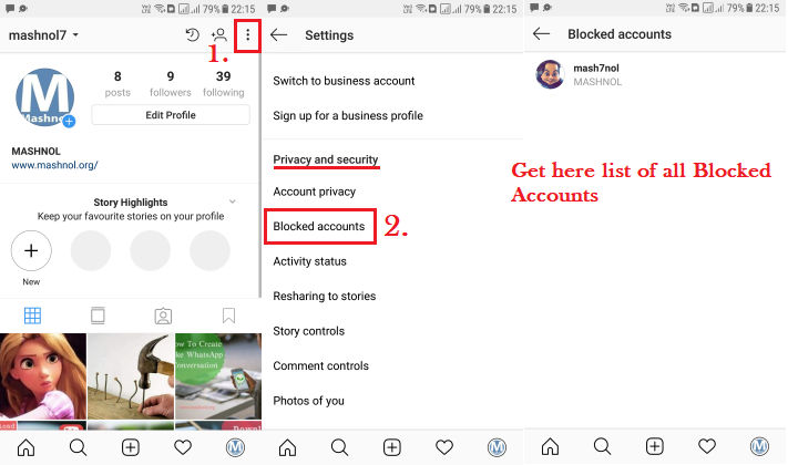 Get List of All Blocked Contacts on Instagram