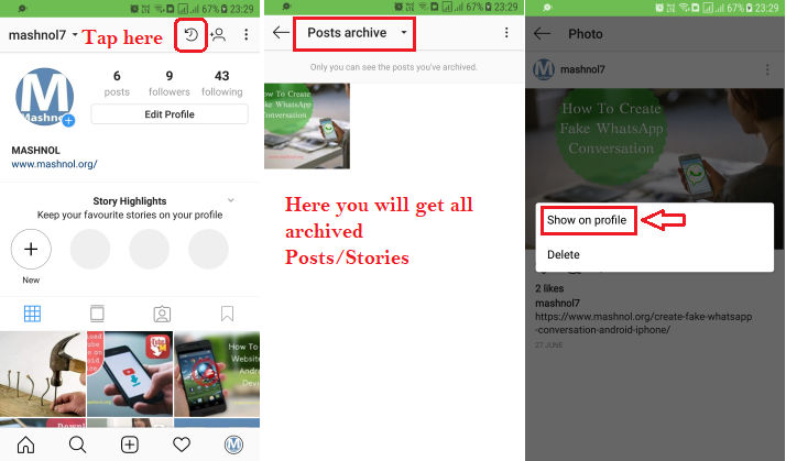 How To Hide Instagram Photos (Post) without deleting them