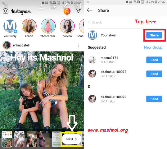 upload and share multiple photos and videos to Instagram Story at once
