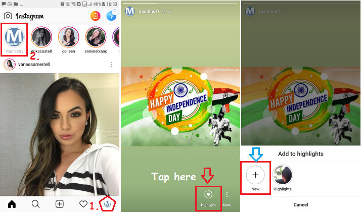 How to Create Instagram Story Highlights from Live Story