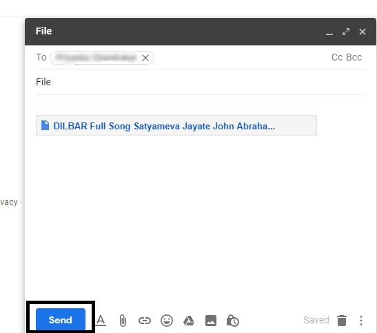 How to send large files through gmail