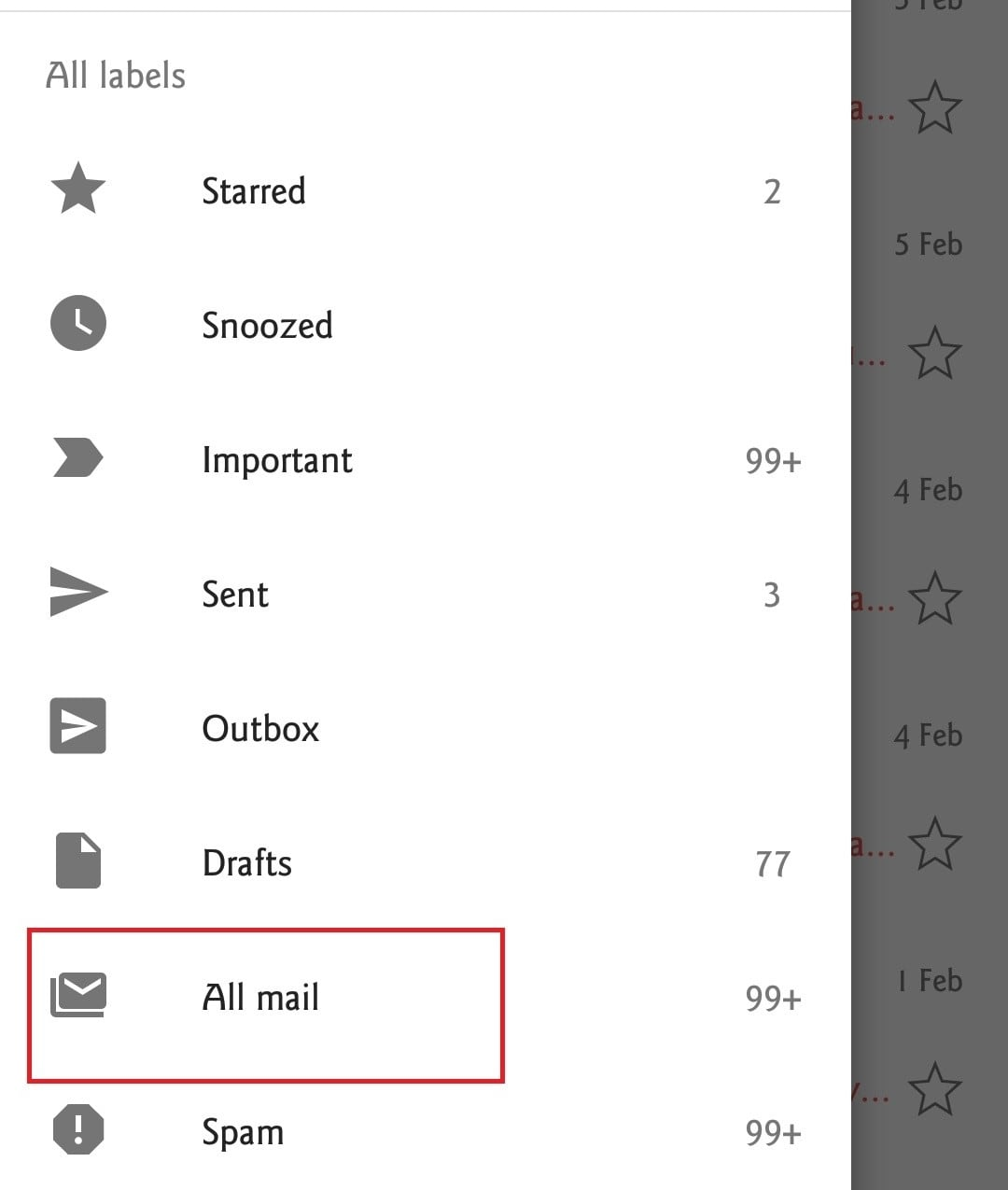 how to find archived emails in gmail