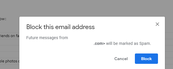 How to block & Unblock an email