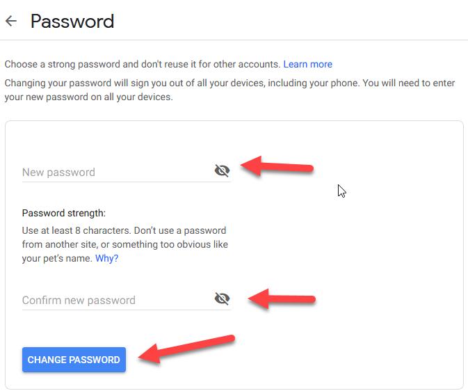 How To Change Youtube Password