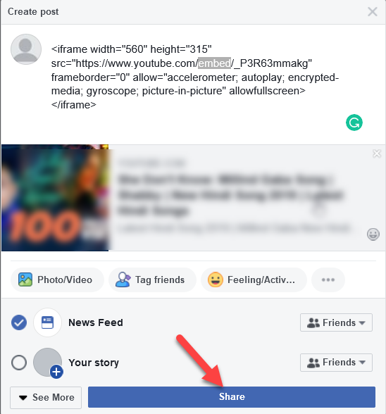 How To Embed Youtube Video On Facebook