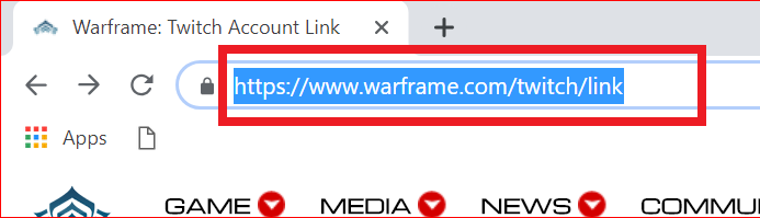 How to link warframe to twitch